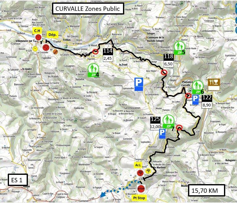 Carte ES1 - FInale Coupe de France Rallye Albi 2019