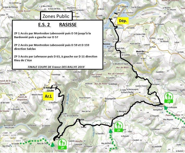 Carte ES2 - FInale Coupe de France Rallye Albi 2019
