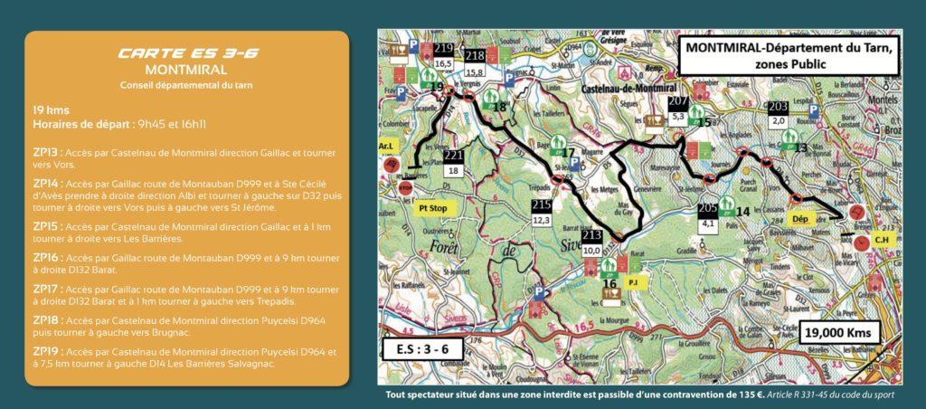 Carte ES3 et 6 - FInale Coupe de France Rallye Albi 2019