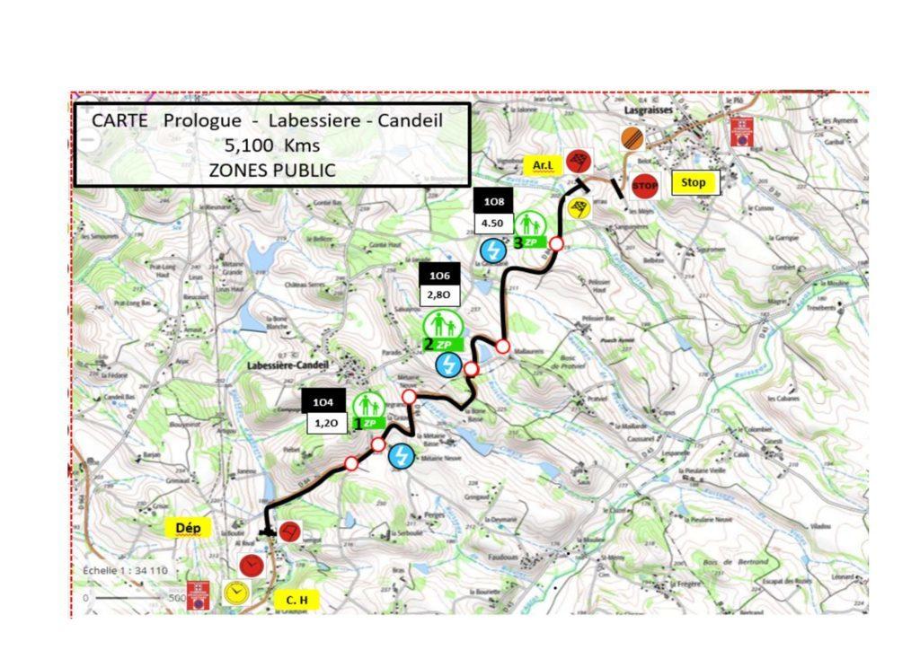 Carte Prologue - Finale Coupe de France Rallye Albi 2019