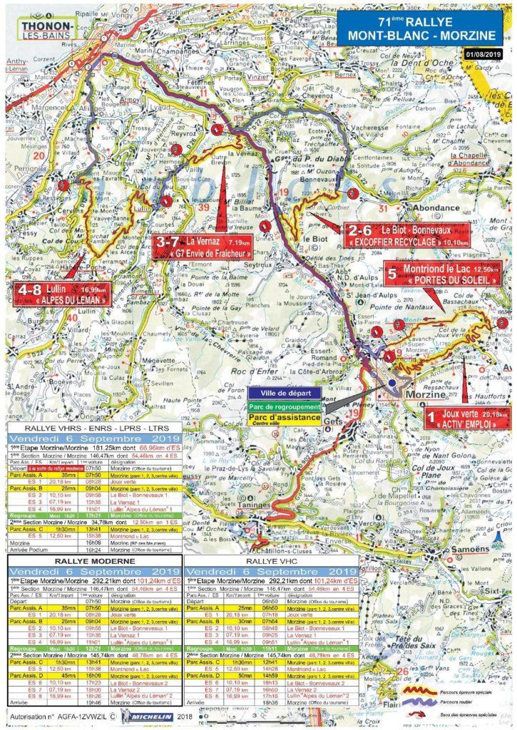 Carte Rallye Mont-Blanc 2019 vendredi