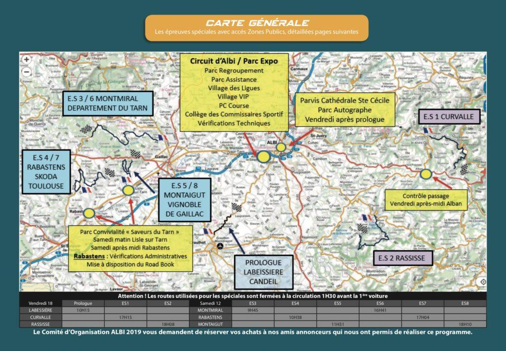 Carte - plan général finale Albi 2019