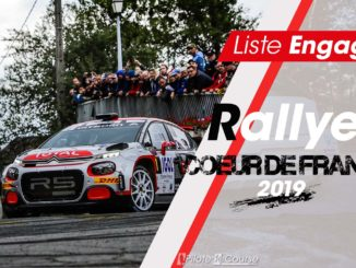 Engagés Rallye Coeur de France 2019