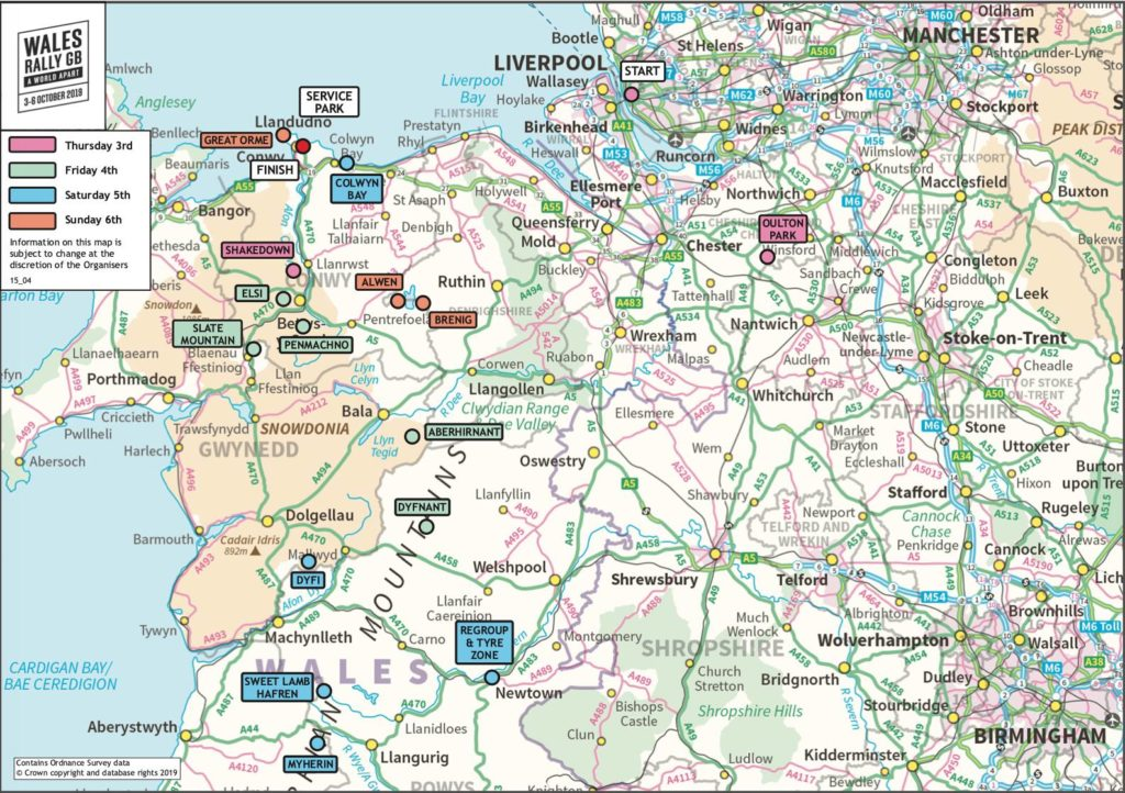 carte Wales Rallye GB 2019