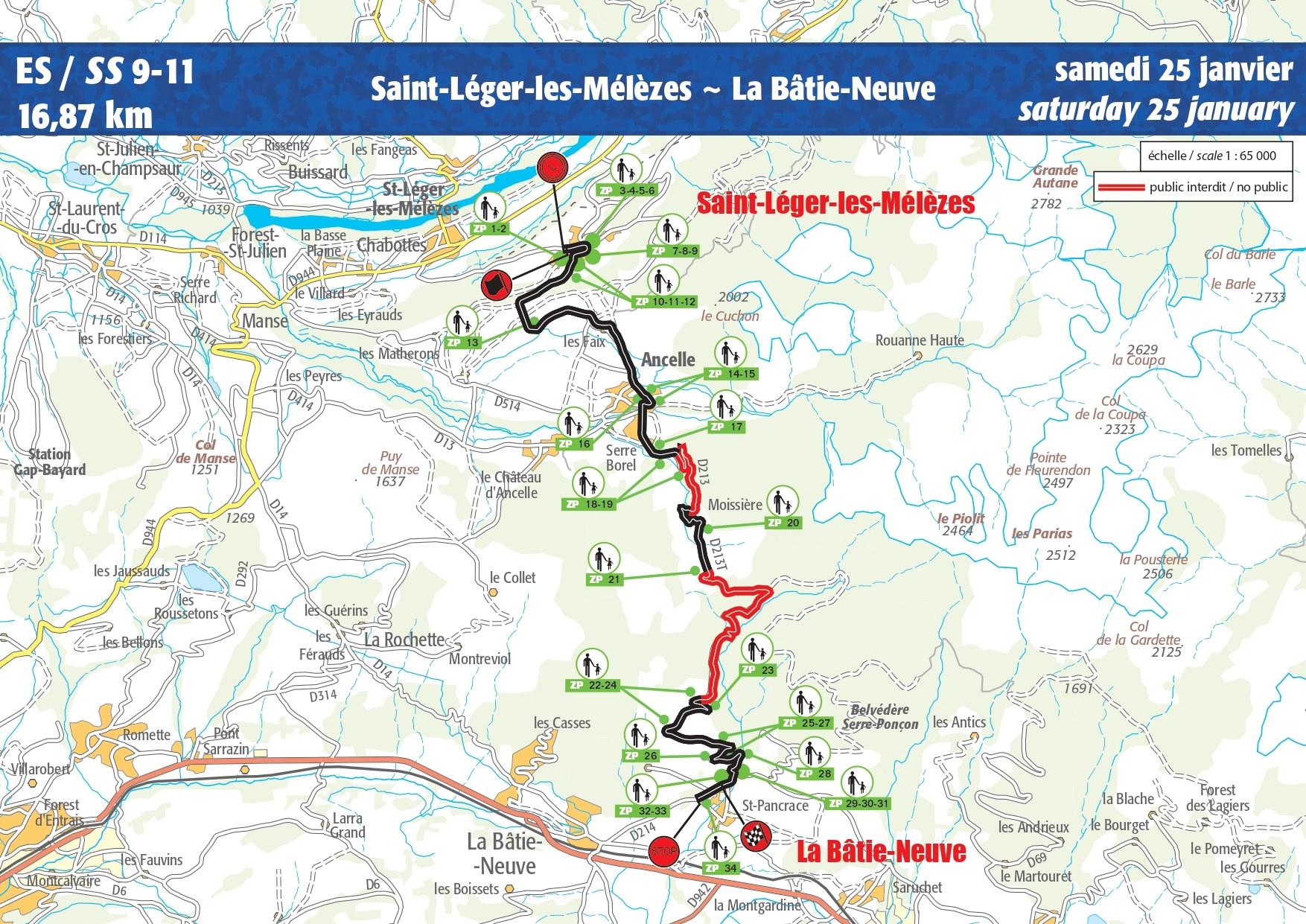 Carte ES 9-11 Rallye Monte-Carlo 2020