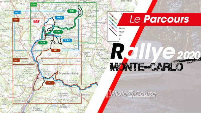 carte Rallye Monte-carlo 2020. Les spéciales du Rallye Monte-Carlo 2020