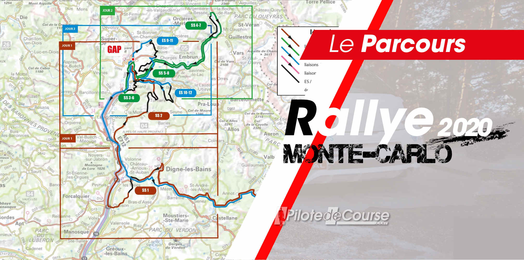 carte monte carlo 2020 Les spéciales du Rallye Monte Carlo 2020   Pilote de Course