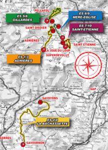 carte Rallye du Dévoluy 2019