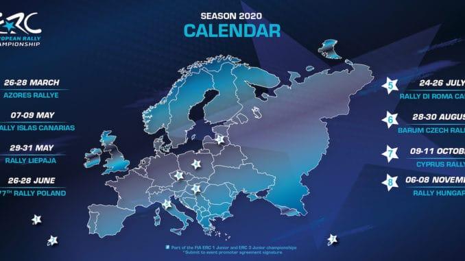 Calendrier ERC 2020