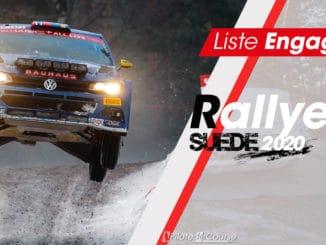 Engagés rallye Suède 2020