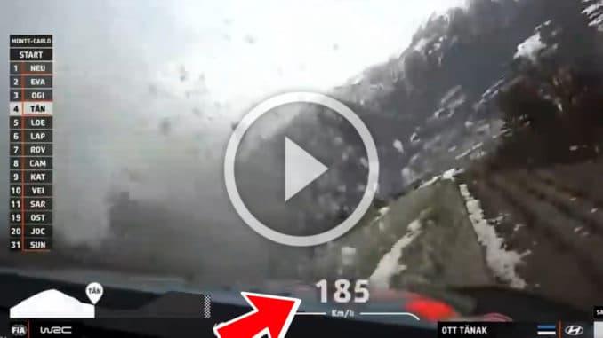 crash rallye Monte-Carlo 2020 Tanak