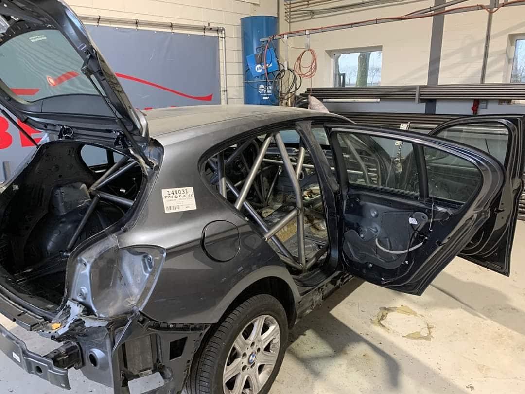 BMW série 1 F20 F2014 de Nicolas Rouillard en cours de construction