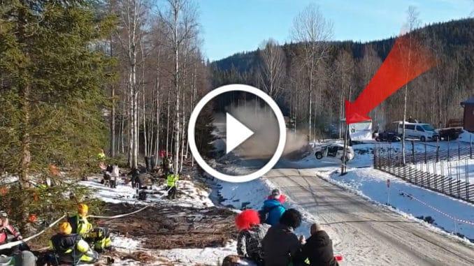 Crash Rallye Suède 2020