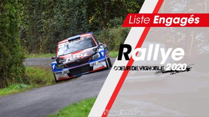 Engagés Rallye Coeur de Vignobles 2020