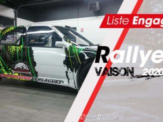 Engagés Rallye de Vaison 2020