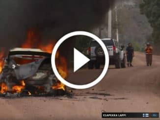 Ford Fiesta WRC Lappi en feu