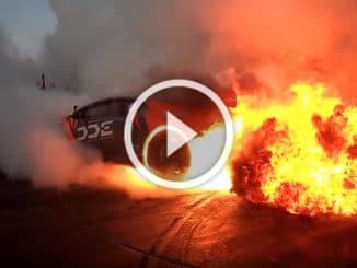 Lamborghini Huracan en feu