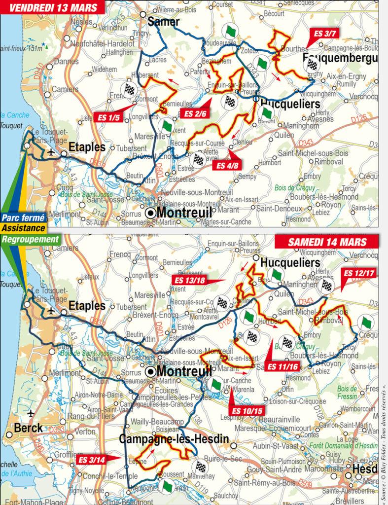 cartes Rallye du Touquet 2020
