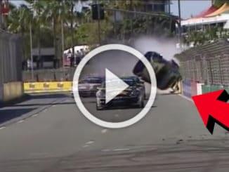Crash Porsche Carrera Cup