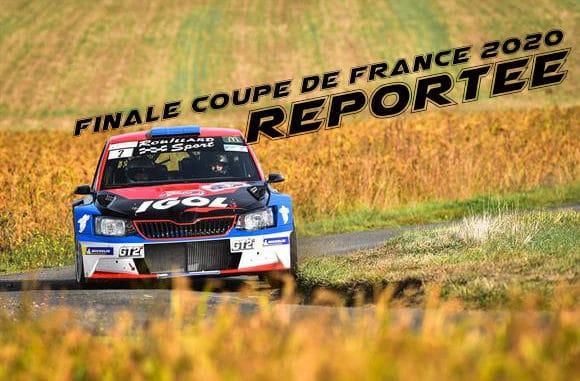 Les Finales des Coupes de France Rallyes, Montagne et Slaloms 2020 reportées en 2021