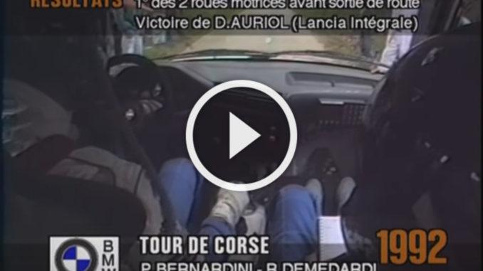 On Board BMW M3 Tour de Corse 1992