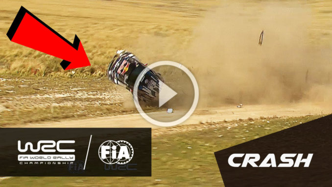 Crash à haute vitesse JM Latvala Rallye Argentine 2016