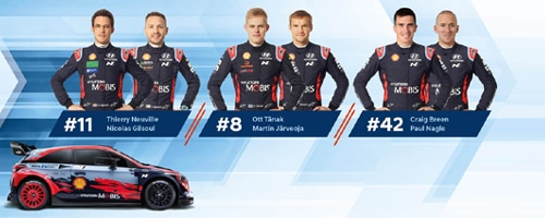 Line-up Hyundai - Finlande 2020