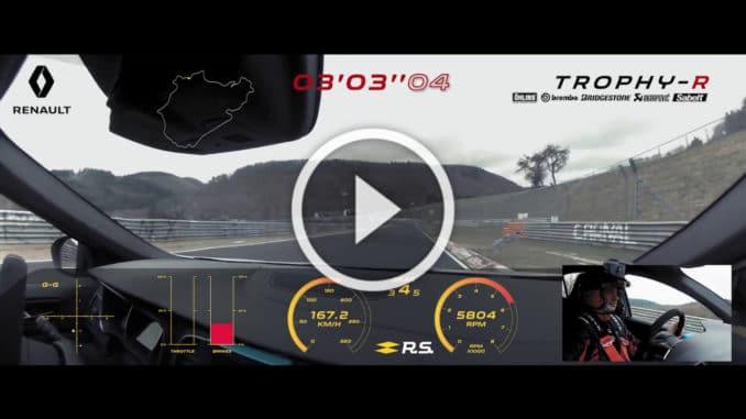 Megane RS Trophy R en enfer
