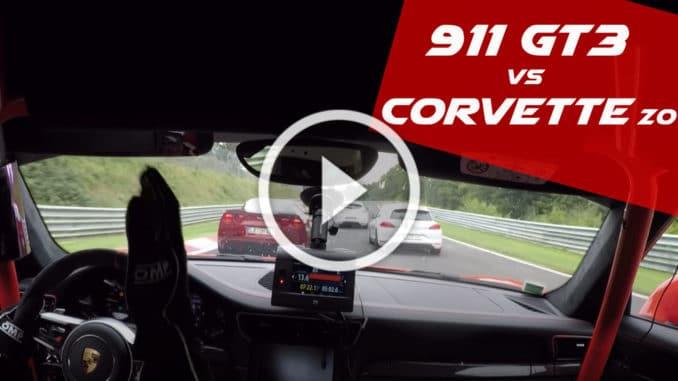 Porsche 911 GT3 vs Corvette C6 Z06 play