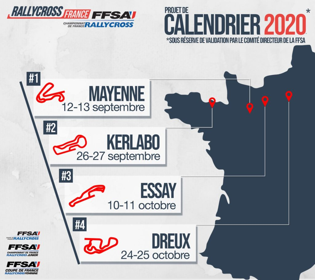 calendrier rallycross France 2020