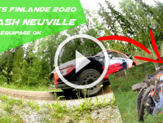 Crash de Thierry Neuville lors de tests en Finlande