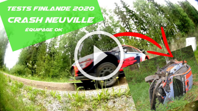 Crash de Thierry Neuville lors de tests en Finlande