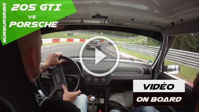 Il croque des Porsche GT3 avec sa 205 GTI