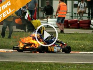 Karting KZ en feu