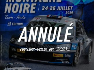 Le Rallye Montagne Noire annulé