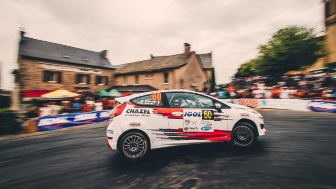David Viarouge lors du Rallye du Rouergue avec la Fiesta R2J