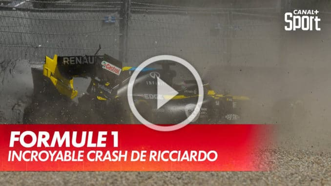 Crash de Daniel Ricciardo