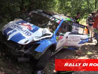 Premier Crash sur le Rally Di Roma 2020