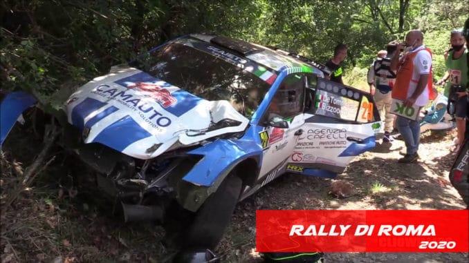 Premier Crash sur le Rally Di Roma 2020