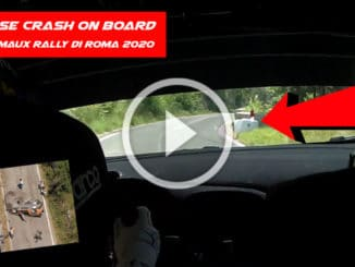 crash on board - Adrien Fourmaux Rally Di Roma Capitale 2020