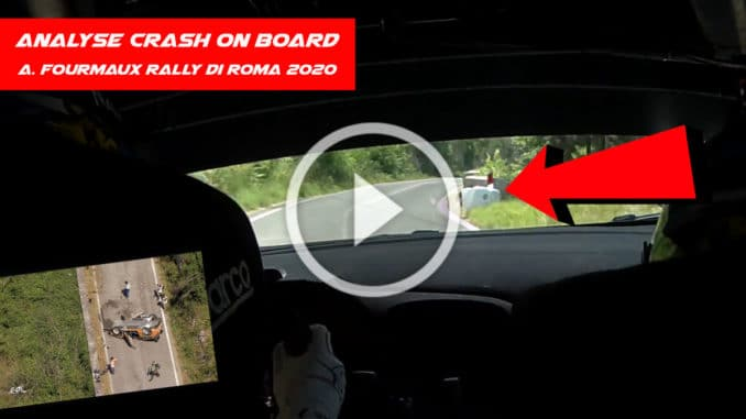 crash on board - Adrien Fourmaux Rally Di Roma Capitale 2020