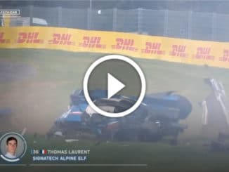 Crash de l'Alpine Signatech à 270 km/h à Spa