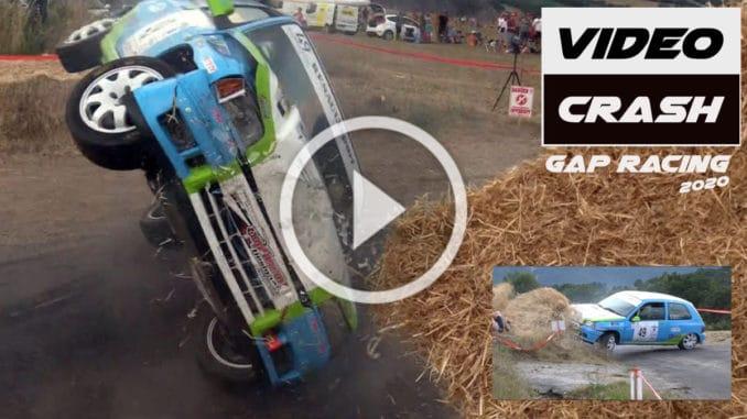 Crashes en série sur le Rallye Gap Racing 2020