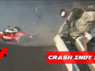 Enorme crash lors de l'Indy 500