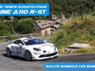 Premier temps scratch pour l'Alpine A110 R-GT