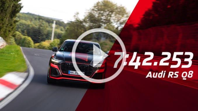 Record Audi RS Q8 Nurburgring