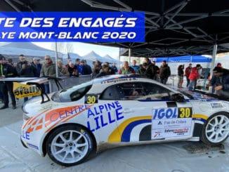engagés Rallye Mont-Blanc 2020