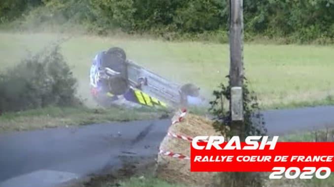 Crash au Rallye Coeur de France 2020