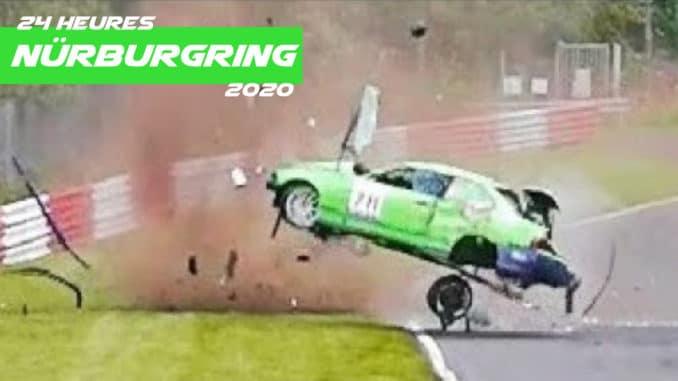 Crash aux 24 h du Nürburgring