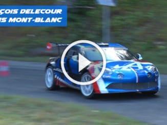 Delecour et l'Alpine A110 R-GT en essais